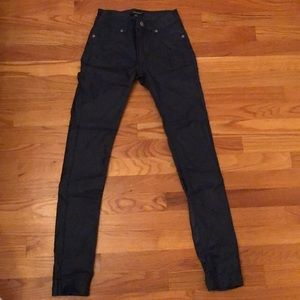 Shinestar Jeans - Midnight blue leather pants size small